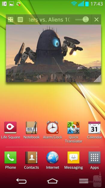 QSlide on the LG G2 - LG G2 vs Nokia Lumia 1020