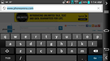 Web browsing on the LG G2 - Motorola DROID Ultra vs LG G2