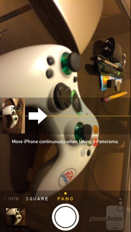iPhone 5s Camera UI