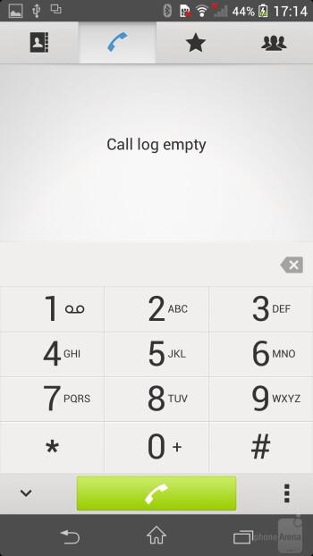 Phonebook of the Sony Xperia Z1 - Sony Xperia Z1 vs LG G2