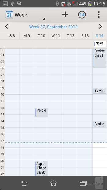 Organizer apps on the Sony Xperia Z1 - Sony Xperia Z1 vs LG G2