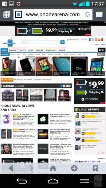 LG G2 - Web browsing - Sony Xperia Z1 vs LG G2