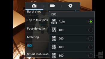 Camera UI of the Samsung Galaxy Note 3 - Google Nexus 5 vs Samsung Galaxy Note 3
