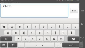 On-screen keyboards - Samsung Galaxy Note 3 vs Sony Xperia Z1