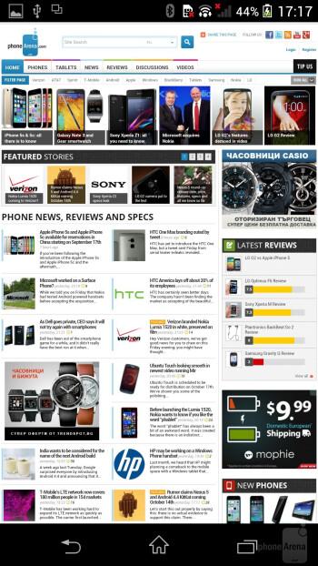 Sony Xperia Z1 - Web browsers - Samsung Galaxy Note 3 vs Sony Xperia Z1