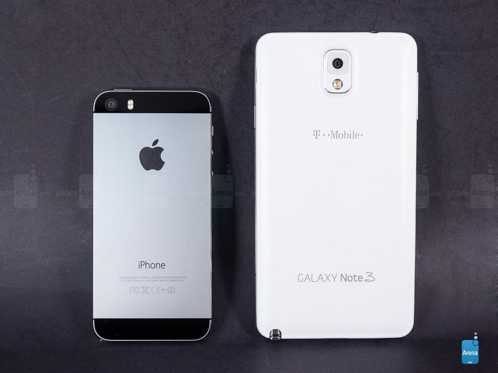 apple iphone 5s vs samsung galaxy note 3 phonearena. Black Bedroom Furniture Sets. Home Design Ideas