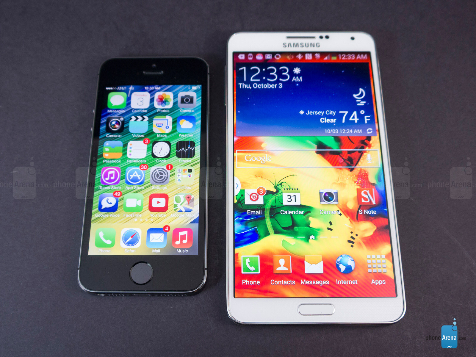 NOTE 3 VS IPHONE