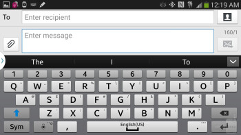 On-screen keyboard of the Samsung Galaxy Note 3 - Apple iPhone 5s vs Samsung Galaxy Note 3