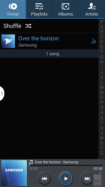 Music player of the Samsung Galaxy Note 3 - Samsung Galaxy Note 3 vs LG G2