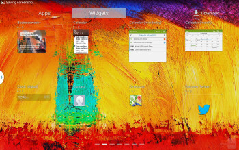 Interface of the Samsung GALAXY Note 10.1 (2014 Edition) - Apple iPad Air vs Samsung Galaxy Note 10.1 2014 Edition