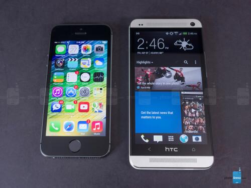 Apple iPhone 5s vs HTC One