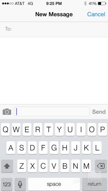 Apple iPhone 5s - On-screen keyboards - Apple iPhone 5s vs Motorola Moto X