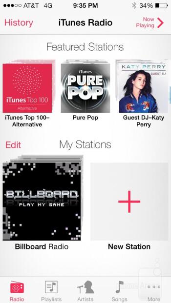 Music player of the Apple iPhone 5s - Apple iPhone 5s vs Motorola Moto X