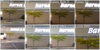 100% crop - Camera Comparison: iPhone 5s vs LG G2, Samsung Galaxy Note 3, Galaxy S4, HTC One, Motorola Moto X, DROID Ultra