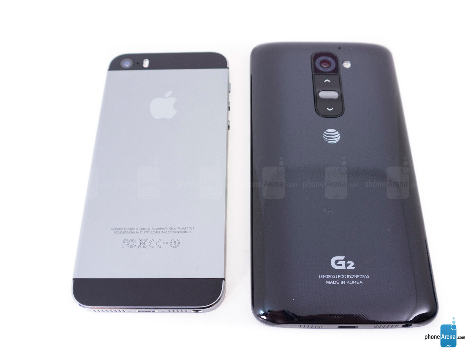 Apple iPhone 5s vs LG G2