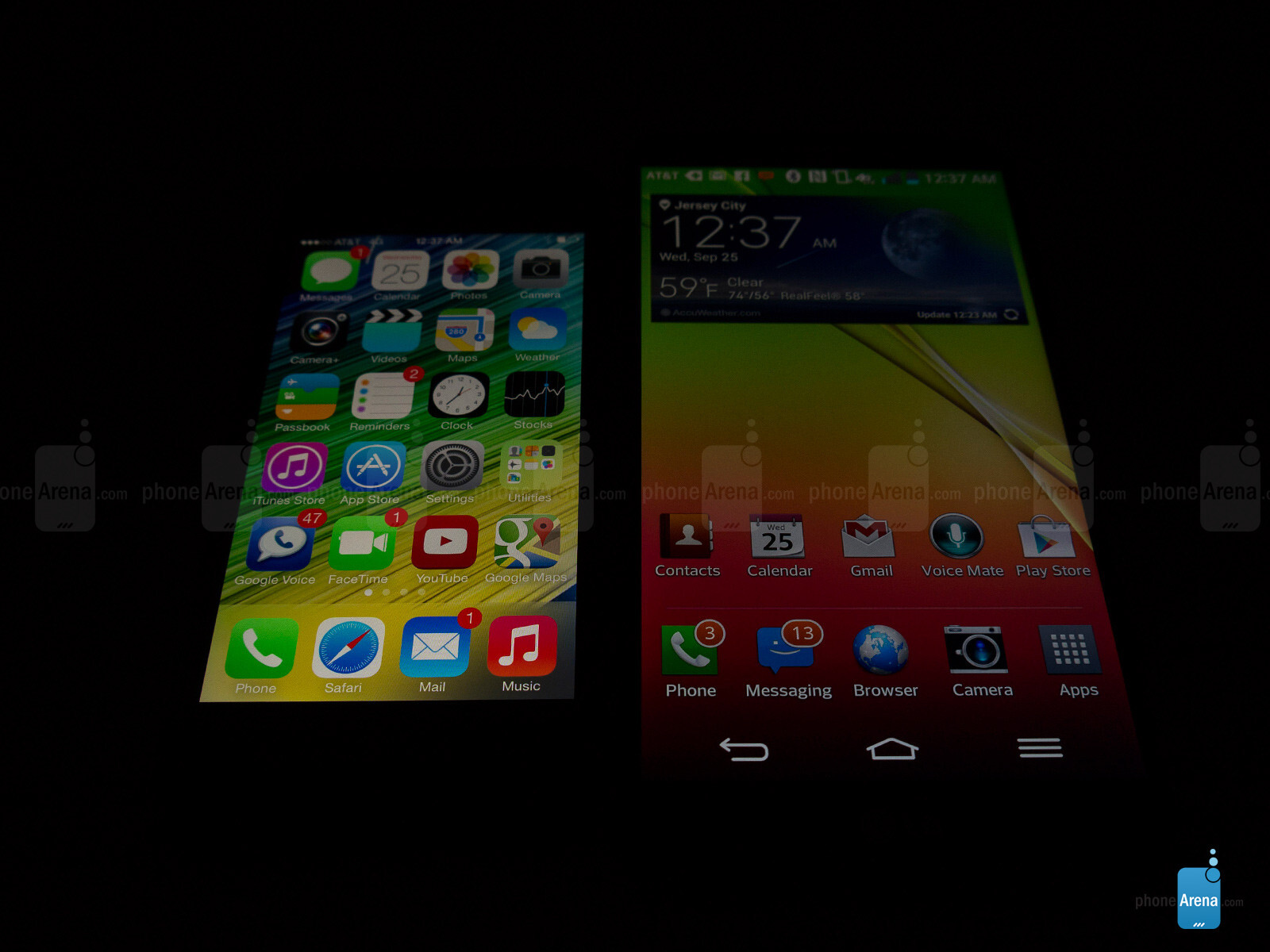 Apple iPhone 5s vs LG G2 ~ Techno Authority