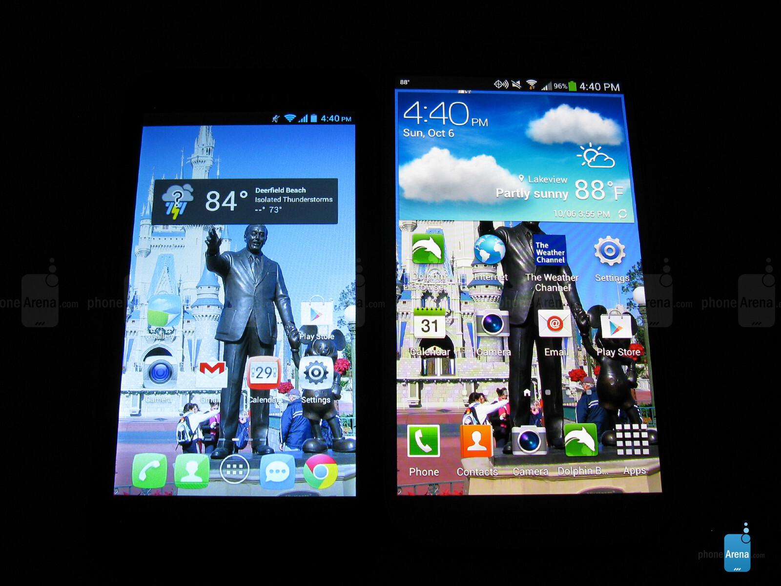 The Fierce Display Next To Galaxy S4