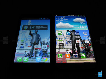 The Fierce display next to the Galaxy S4 - Alcatel One Touch Fierce Review