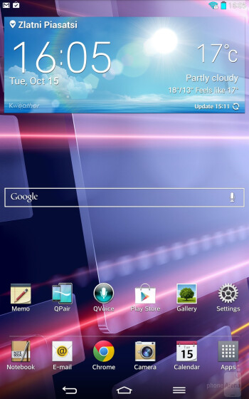 UI of the LG G Pad 8.3 - LG G Pad 8.3 vs Apple iPad mini 2 with Retina Display
