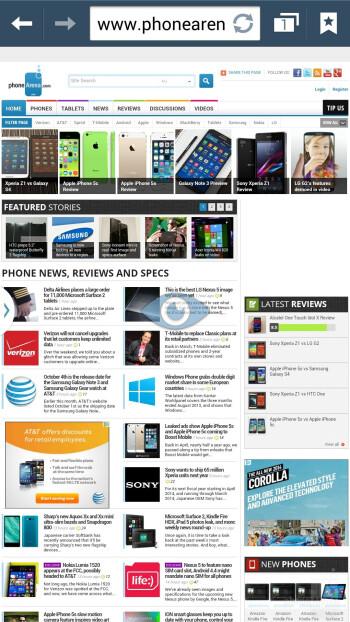 Samsung Galaxy Note 3 - Web browsers - Samsung Galaxy Note 3 vs Sony Xperia Z1