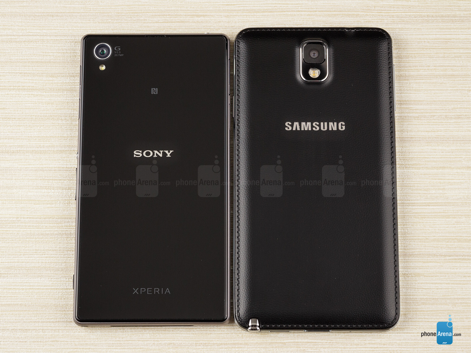 Samsung Galaxy Note 3 vs Sony Xperia Z1 {Source:- PhoneArena}
