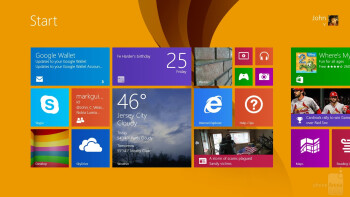 UI of the Microsoft Surface Pro 2 - Apple iPad Air vs Microsoft Surface Pro 2
