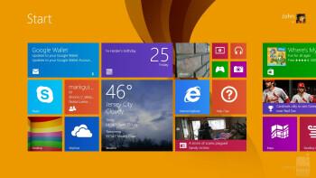 UI of the Microsoft Surface Pro 2 - Apple iPad Air vs Microsoft Surface Pro 2