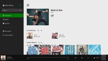 Music player of the Microsoft Surface Pro 2 - Apple iPad Air vs Microsoft Surface Pro 2