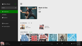 Music player of the Microsoft Surface 2 - Apple iPad Air vs Microsoft Surface 2