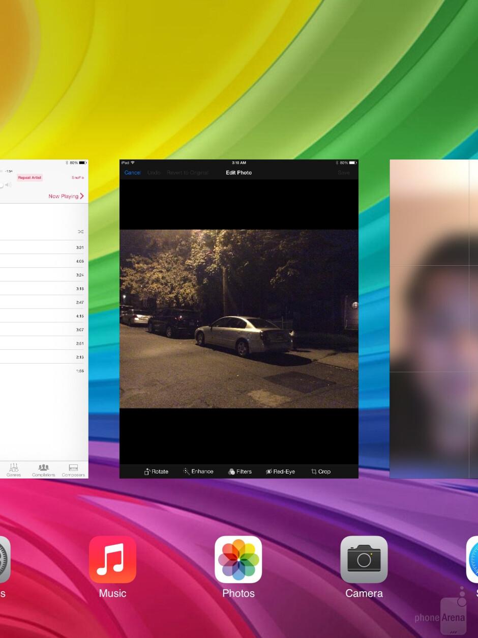 The UI of the Apple iPad Air - Sony Xperia Z2 Tablet vs Apple iPad Air