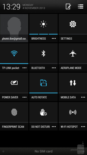 UI of the HTC One max - HTC One max vs LG G2
