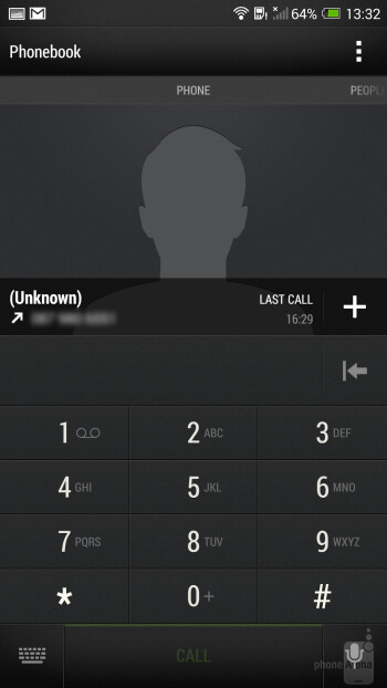 Dialer on the HTC One max - HTC One max vs Samsung Galaxy S4