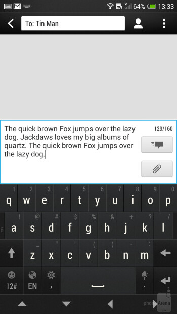 Messaging on the HTC One max - HTC One max vs LG G2