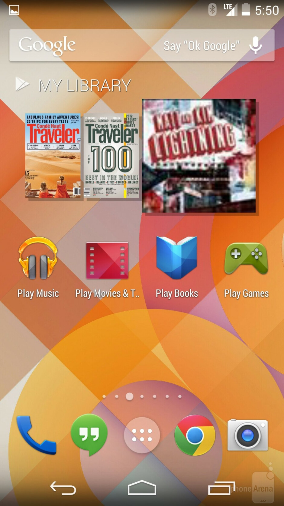 Interface of the Google Nexus 5 - Samsung Galaxy S5 vs Google Nexus 5