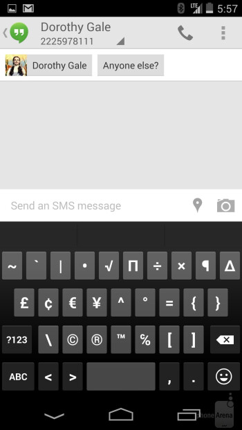 Keyboard of the Google Nexus 5 - Google Nexus 5 vs LG G2