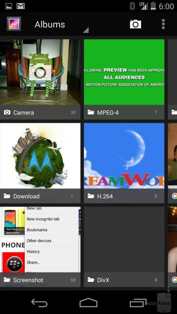 Multimedia apps of the Google Nexus 5 - LG G3 vs Google Nexus 5