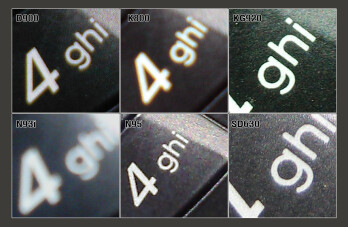 100% Crop - GSM Cameraphone Comparison Q2 2007