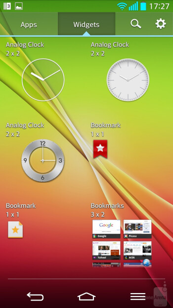 Interface of the LG G2 - HTC One (M8) vs LG G2