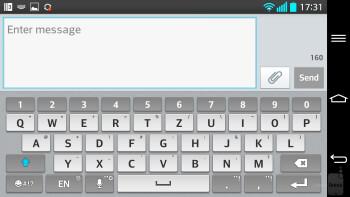 Keyboard of the LG G2 - Google Nexus 5 vs LG G2