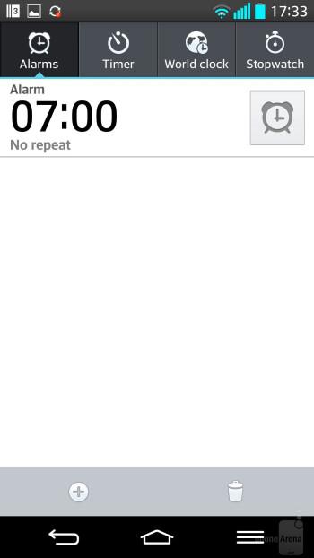 Organizer apps of the LG G2 - Google Nexus 5 vs LG G2