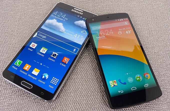 Google Nexus 5 vs Samsung Galaxy Note 3