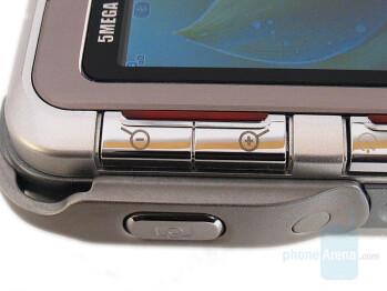Zoom keys - Left side - LG KG920 Review