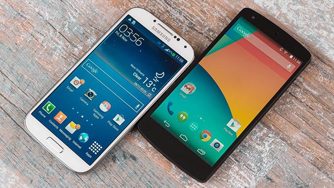 Google Nexus 5 vs Samsung Galaxy S4