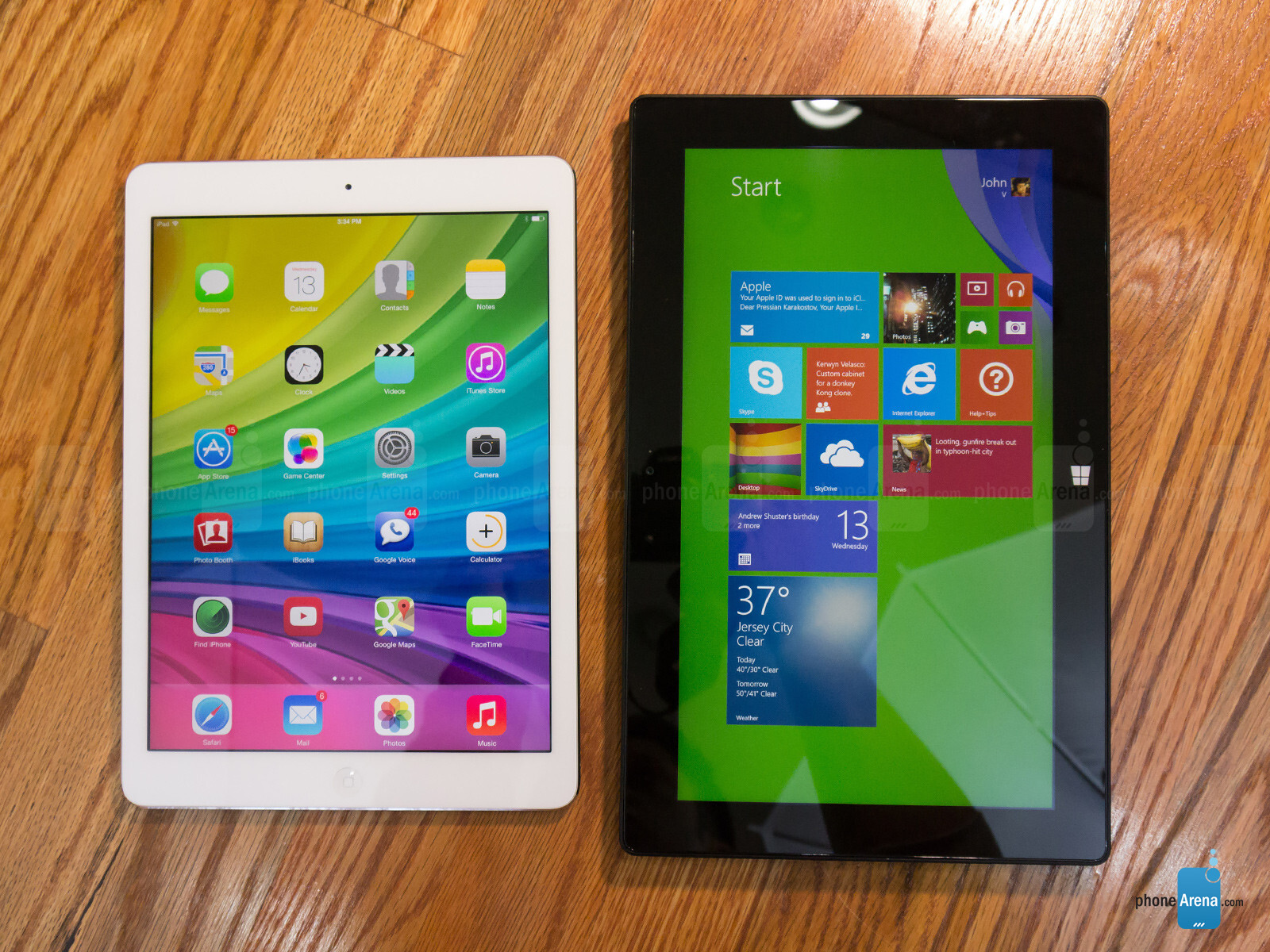 Apple Ipad Air Vs Microsoft Surface Pro 2 Phonearena