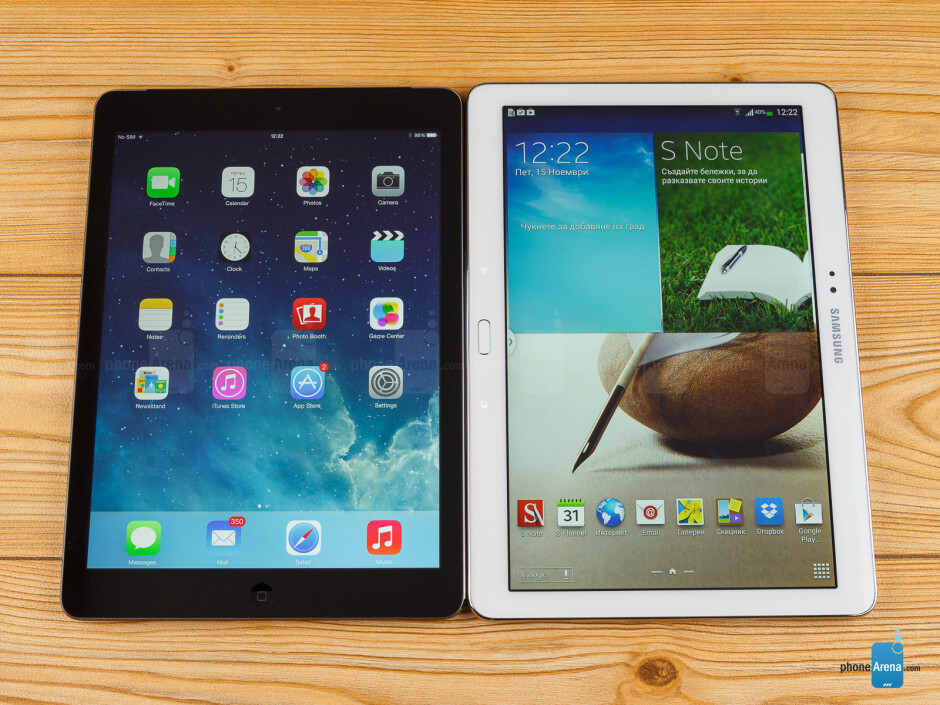 Apple iPad Air vs Samsung Galaxy Note 10.1 2014 Edition