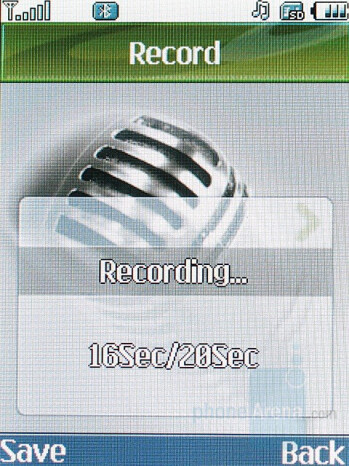 Voice recorder - LG KG920 Review