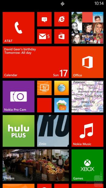 Interface of the Nokia Lumia 1520 - Nokia Lumia 1520 vs LG G2
