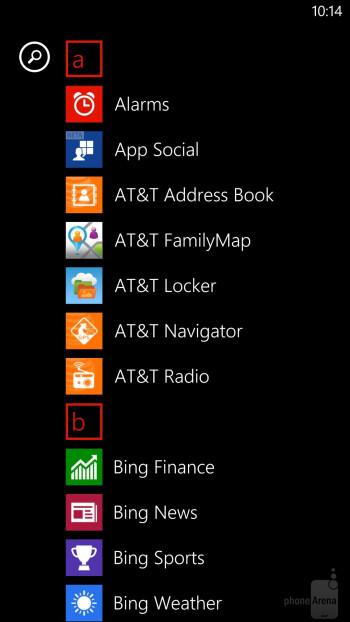 Interface of the Nokia Lumia 1520 - Nokia Lumia 1520 vs Samsung Galaxy Note 3