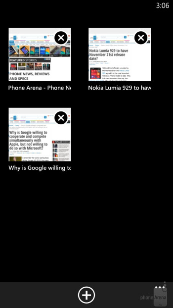Browser of the Nokia Lumia 1520 - Nokia Lumia 1520 vs HTC One max