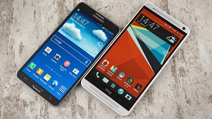 HTC One max vs Samsung Galaxy Note 3